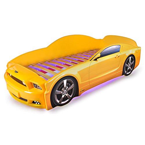 KAGU Autobett Kinderbett Jungendbett Juniorbett im Design eines echten Autos auch mit LED-Beleuchtung erhältlich. Praktisches und bequemes Bett für Ihr Kind. - 2