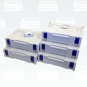 Festool Hitachi BTI Tanos Systainer CLASSIQUES GR1 gris 5er Set (Micro Systainer gratuit)