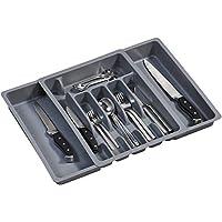 Kesper 30087 Pull-Out Cutlery Tray Plastic Dimensions 29 to 50 cm x 38 x 6.5 cm Grey