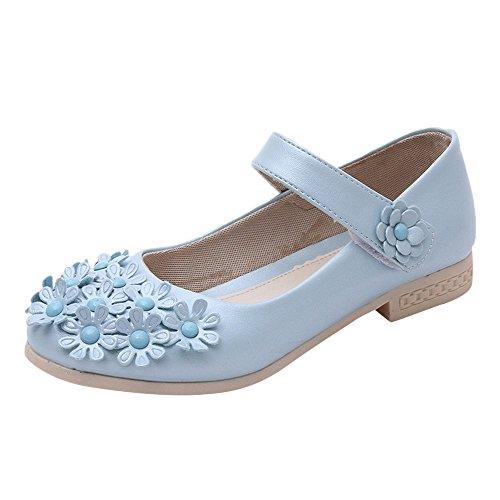 (Sonnena Tanzschuhe Kleinkind Schuhe Kinderschuhe Mädchen Kristall einzelne Schuhe Ballerinas T-Strap Schuhe Lederschuhe Lauflernschuhe Mädchen Prinzessin Schuhe (29, Blua))