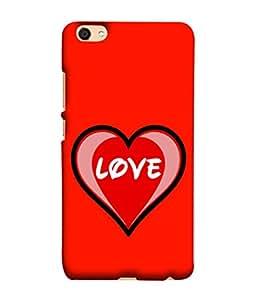 Fuson Designer Back Case Cover for Vivo V5 (Hearts Love Beloved Sweetheart Cupid)