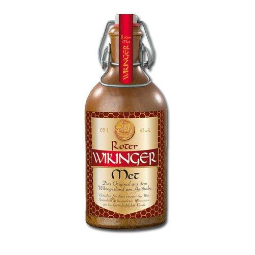Roter Wikinger Met Behn Honigwein 6,0% Vol. im Tonkrug (6x 0,5l = 3l Met)