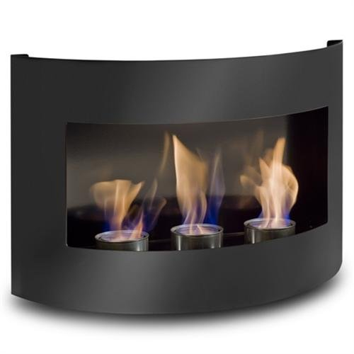 Design Fireplace RIVIERA Black Bio Ethanol Gel Fire Place