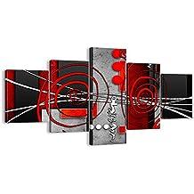 Cuadro sobre lienzo - 5 piezas - Impresión en lienzo - Ancho: 125cm, Altura: 70cm - Foto número 0599 - listo para colgar - en un marco - EA125x70-0599