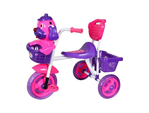 HLX-NMC KIDS SCOOBY PUPPY TRICYCLE PINK/BLUE  available at amazon for Rs.1299