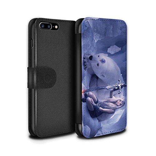 Officiel Elena Dudina Coque/Etui/Housse Cuir PU Case/Cover pour Apple iPhone 7 Plus / Cyborg Design / Super Héroïne Collection Reine des Glaces
