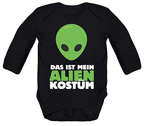 rkleidung Strampler Bio Baumwoll Baby Body langarm Das ist mein Alien Kostüm 2, Größe: 3 - 6 Monate,Black (Was Ein-und Zwei-halloween-kostüme)