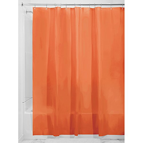 interdesign pvcfree eva 55gauge shower curtain liner 183 x 183 cm burnt orange