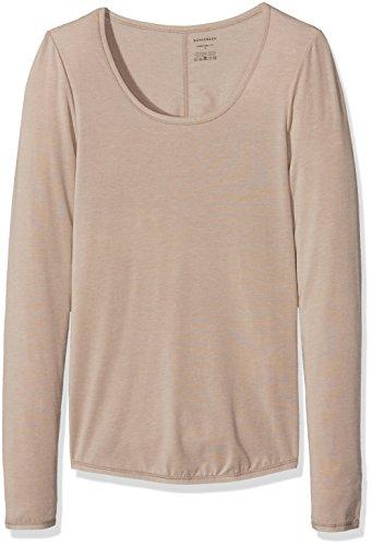 Schiesser Damen Unterhemd Personal Fit Shirt 1/1 Arm, Braun (Braun 300), 36 (Herstellergröße: S) (T-shirts Armee Braunen)