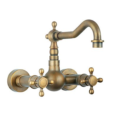Miaoge Pastoral Style Brass 1 Hole 1 Hand Antique Kitchen tap [Standard]