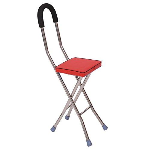 Vorteil Krücken (XRXY Der ältere Krücken-Sitz / alter Mann mit Schemel-Gehstock / faltbarem / Vierbein-Stock-Wanderer)