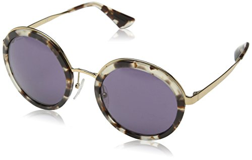 Prada Damen 0PR50TS UAO6O2 54 Sonnenbrille, Weiß (White Havana/Violet)