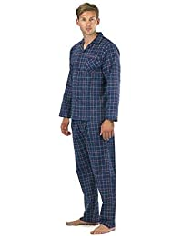 dbcd72bd0 Hombre Perchado 100% pura% Pijama De Algodón Cálido De Invierno Franela  Térmico ...