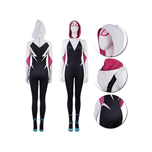 Damen Kostüm Spider - Gwen Stacy Cosplay Costume Suit (Groß)