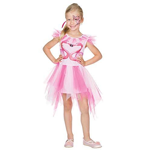 Mädchen Kostüm Flamingo - Idealtrend Kostüm Kinder Gr 104-164 Mädchen Jungen Fantasy Fasching Karneval Cosplay Unisex: Farbe: Flamingo | Größe: 104