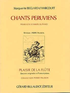 partitions-classique-billaudot-beclart-marguerite-dharcourt-chants-peruviens-flute-et-piano-flute-tr