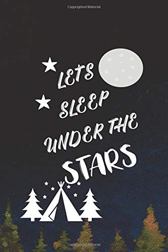 Price comparison product image Let's Sleep Under The Stars: Blank Lined Notebook ( Camping ) (Navy Blue)