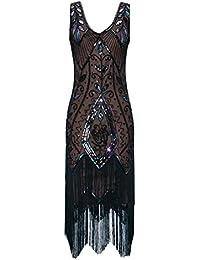 1f92b24a97dc Metme Donna 1920S Flapper Fringe Rilievo Great Gatsby Party Dress