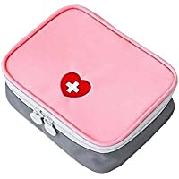 Rosa Leer Erste-Hilfe-Tasche Medizin-Organisator/Pouch preisvergleich bei billige-tabletten.eu