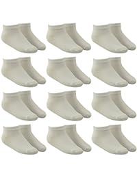 12 Paar Sneaker Socken für Kinder und Teenager in weiß
