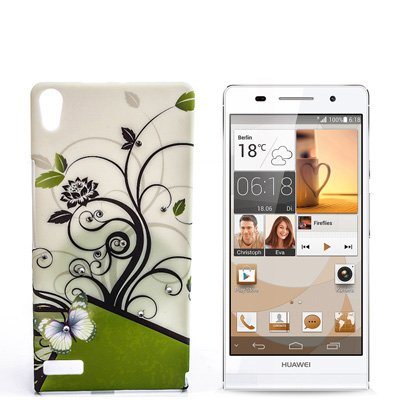 numerva kompatibel mit Huawei Ascend P6 Hülle Motiv Case Ascend P6 Schutzhülle Strass QJC-027
