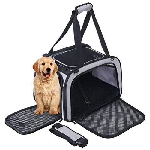 Maxmer Trasportino per Cani Gatti Pieghevole Borsa Trasporto per Animali Domestici Piccoli Viaggio Auto Aereo Pet Carrier