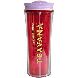 Starbucks Cold Cup Tumbler Tropic teavana Limited 16oz/473ml Starbucks Taza