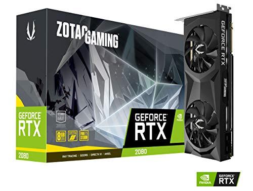Zotac ZT-T20800F-10P - Tarjeta gráfica (GeForce RTX 2080, 8 GB, GDDR6, 256 bit, 4096 x 2160 Pixeles, PCI Express x16 3.0)