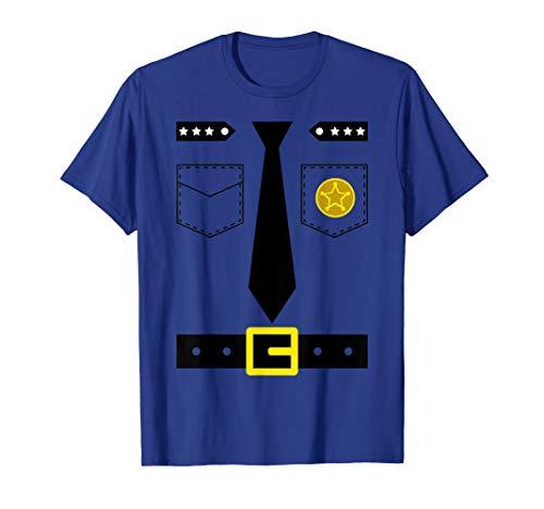 Polizist Kostüm T Shirt Einfache Polizei Verkleidung ()