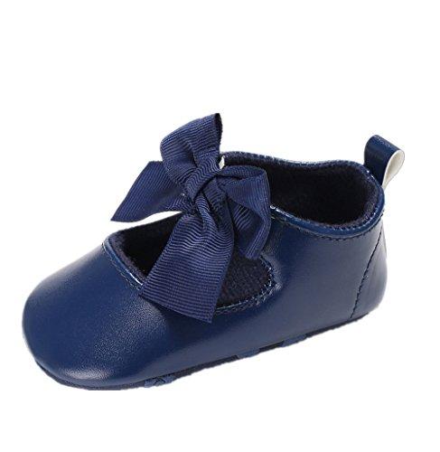 Zapatos para bebé Auxma Zapatos de Cuero de la PU del Bowknot de la niña Zapatos...