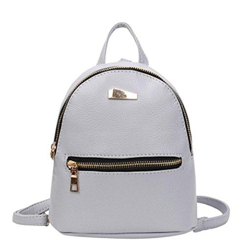 Super niedriger Preis UFACE Koreanische Mode einfachen Doppel zurück Mini Mädchen Rucksack große Kapazität kleine Freizeit Rucksack (Galaxy grau) -