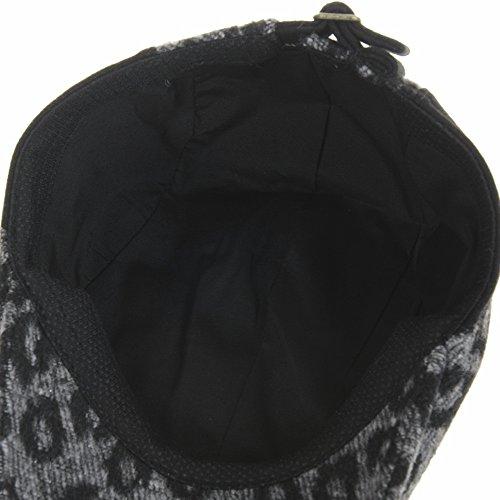 WITHMOONS Béret Casquette Chapeau Wool Leopard Animal Pattern Newsboy Hat Flat Cap LD3165 Gris
