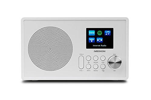 Medion MD 87528 WLAN Internet-UKW Radio (RDS, Spotify, USB, AUX in, DLNA, UPNP) weiß