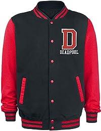 Deadpool Logo Chaqueta Universitaria Negro/Rojo