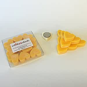 WHICKSNWHACKS 10 HEART Shaped SUNWASHED LINEN Ecosoy Wax Melts for your Oil Burner