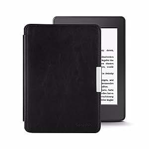 EasyAcc Kindle Paperwhite Cover in pelle custodia - con Sonno / Sveglia la Funzione Compatibile con tutte le generazioni di Kindle Paperwhite - Nero in pelle