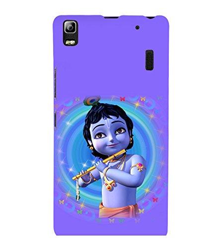 printtech Lord God Krishna Small Cartoon Back Case Cover for Lenovo K3 Note