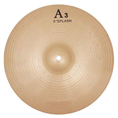 8 Zoll Brass Drum Cymbal, Durable Splash Becken Musikinstrument für Trommel