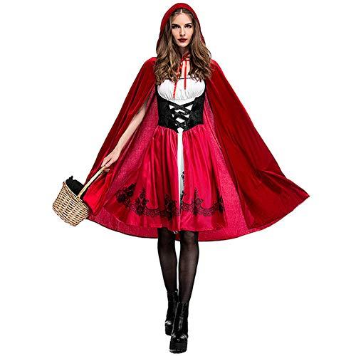 Shirt Plus Kostüm Für Erwachsene - AEIN Halloween-Kleid, für Erwachsene, für Cosplay, Rotkäppchen, Party, Cosplay, sexy Nachtclub-Königin, elastisches Material, 100% Polyester Gr. XXL, Farbe