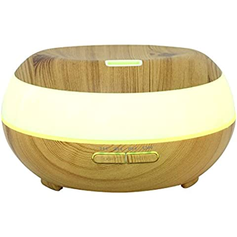 listen2u legno Aromaterapia Diffusore Umidificatore a ultrasuoni Aromaterapia per Casa