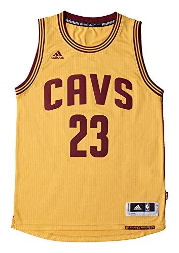 adidas Int Swingman - Camiseta para hombre, color amarillo / rojo (nba cleveland cavaliers 7 3cc), talla L