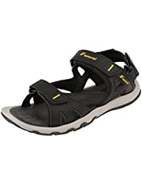 794a4ec6b Fsports Mens Black Yellow Colour Spider Series Synthetic Casual Sandal