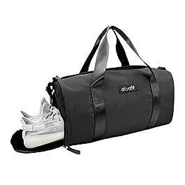 ATIVAFIT – Borsone sportivo impermeabile con scomparto per scarpe, ideale per yoga, nuoto, viaggi Grigio Grey N#A
