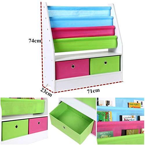 Generic * DREN Kids Rack Storage ID Wo Bücherregal Spielzeug Kinder Kinder Kinder Kinder Kinder Holz ase Spielzeug Rack Bett Spielzimmer Display Display Regal - Stoff-display-racks