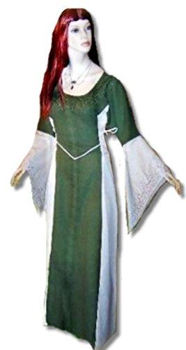 Bäres Mittelalter Kleider kleine Maid - Kinder Marktkleid - Kinder Catriona für 12-14 jährige/natur / olive (13 Jährigen Halloween Kostüme)