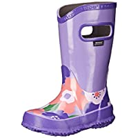 GIRLS BOGS VIOLET MULTI FLOWER LIGHTWEIGHT RAIN BOOT WELLIES WELLINGTONS 71927 (UK9/EU26)