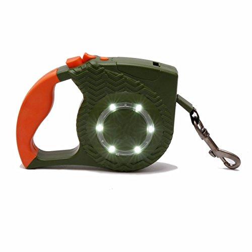 Einziehbare Abschleppseile des Haustieres mit LED flexiblen Hunderiemen, Haustier einziehbare Schleppgurte Haustierbügel Hunde- und Katzenbeleuchtung 3 Farblänge 4M Flachseil