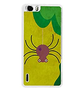 Spider Cartoon 2D Hard Polycarbonate Designer Back Case Cover for Huawei Honor 6