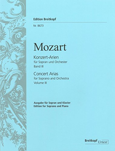 Konzertarien Fur Sopran BD. 3