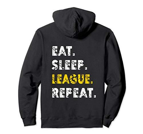 Eat Sleep League Repeat Tee Men & Women Sports Game Gaming Pullover Hoodie